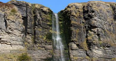 Sruth in Aghaidh An Aird Waterfall