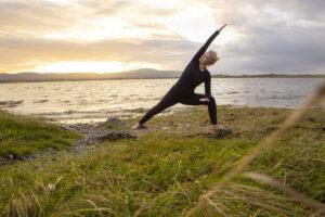 yoga on the beach sligo
