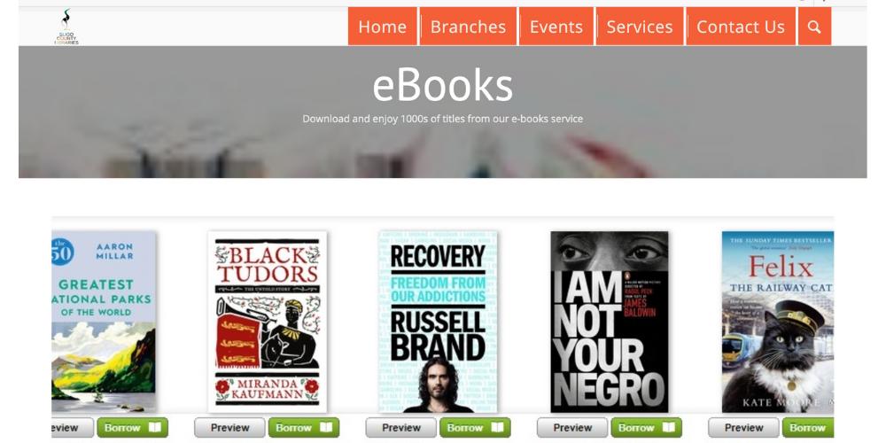 ebooks available at Sligo County library