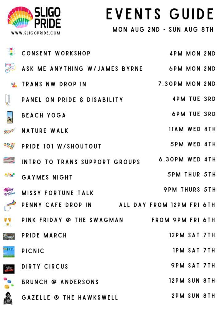 Sligo Pride Events Guide